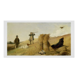 Shooting Partridge over Dogs (see also 63637) Poster
