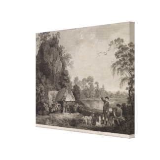 Shooting, plate 1, engraved by William Woollett (1 Canvas Print