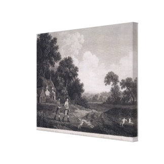 Shooting, plate 2, engraved by William Woollett (1 Canvas Print