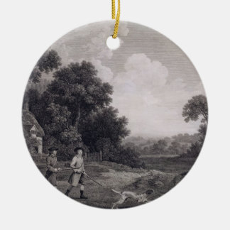 Shooting, plate 2, engraved by William Woollett (1 Round Ceramic Decoration