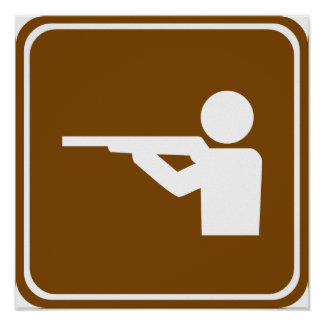 Shooting Range Highway Sign Poster