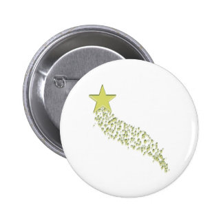 Shooting Star 6 Cm Round Badge