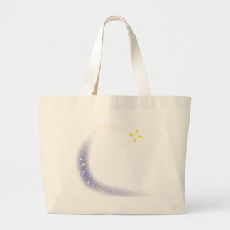 Shooting Star Background Large Tote Bag