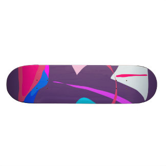 Shooting Star Dark Soft Purple Custom Skateboard