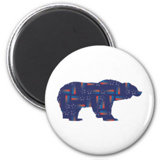 Shooting-Star-Mama-Grizzlie 6 Cm Round Magnet