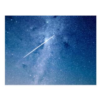 Shooting star postcard