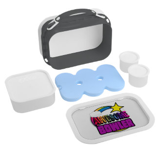 Shooting Star Rainbow Awesome Bowler Lunch Box