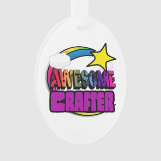 Shooting Star Rainbow Awesome Crafter Ornament