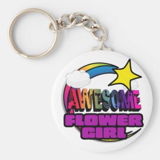 Shooting Star Rainbow Awesome Flower Girl Keychains
