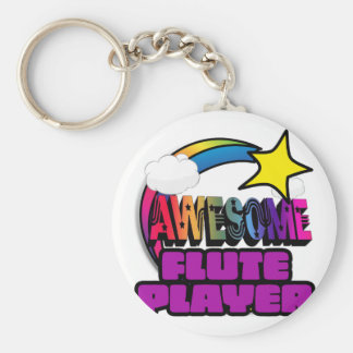 Shooting Star Rainbow Awesome Flute Player Key Chain