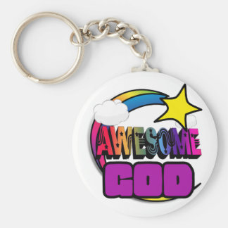 Shooting Star Rainbow Awesome God Keychains