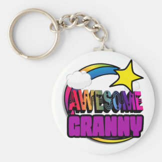 Shooting Star Rainbow Awesome Granny Key Chains