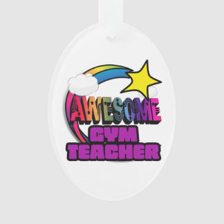 Shooting Star Rainbow Awesome Gym Teacher Ornament