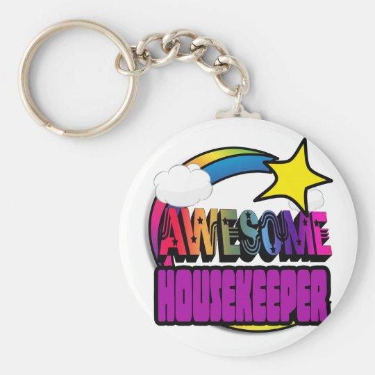 Shooting Star Rainbow Awesome Housekeeper Key Ring