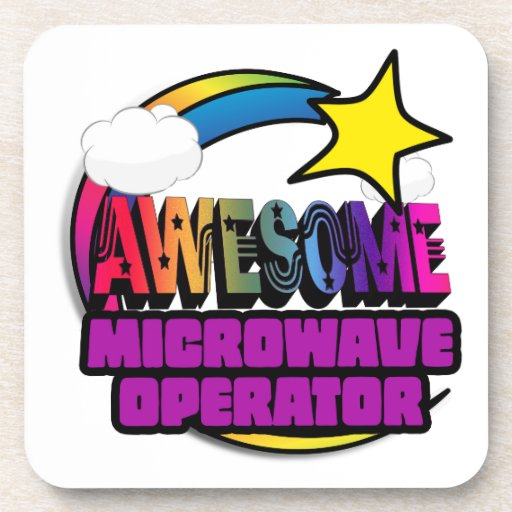 Shooting Star Rainbow Awesome Microwave Operator Beverage Coaster