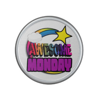 Shooting Star Rainbow Awesome Monday Bluetooth Speaker