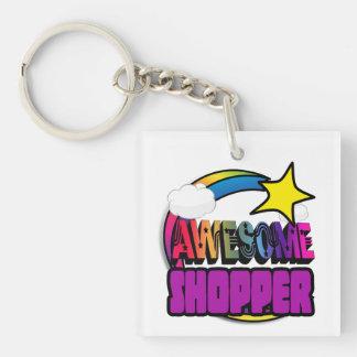 Shooting Star Rainbow Awesome Shopper Acrylic Key Chain