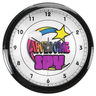 Shooting Star Rainbow Awesome Spy Aqua Clock