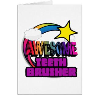 Shooting Star Rainbow Awesome Teeth Brusher Card