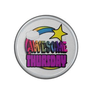 Shooting Star Rainbow Awesome Thursday Bluetooth Speaker