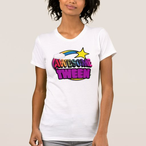 Shooting Star Rainbow Awesome Tween Tshirt