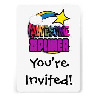 Shooting Star Rainbow Awesome Zipliner Invites