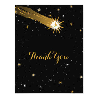 Shooting Star Romantic Thank You Card 11 Cm X 14 Cm Invitation Card