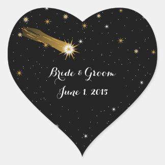 Shooting Star Romantic Wedding Stickers
