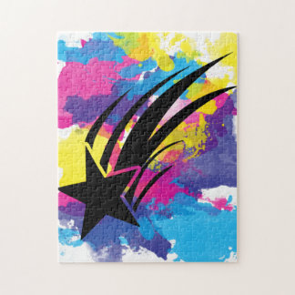 Shooting Star Watercolor Colorful Pop Art Puzzle