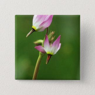 Shooting star wildflower, California, USA 15 Cm Square Badge