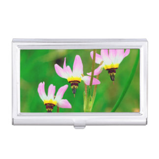 Shooting Star Wildflowers in Mission Trails Park Business Card Holder