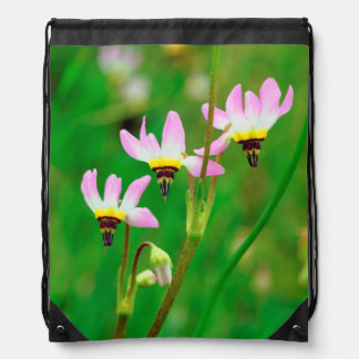 Shooting Star Wildflowers in Mission Trails Park Drawstring Bag