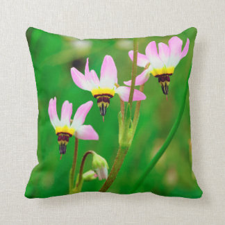 Shooting Star Wildflowers in Mission Trails Park Throw Pillow