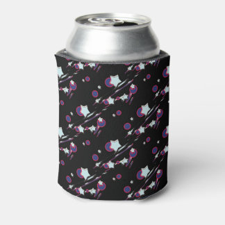 Shooting Stars and Comets Black Beer Sleeve Can Cooler