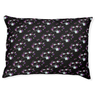 Shooting Stars and Comets Black Dog Bed