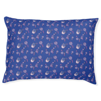Shooting Stars and Comets Blue Dog Bed