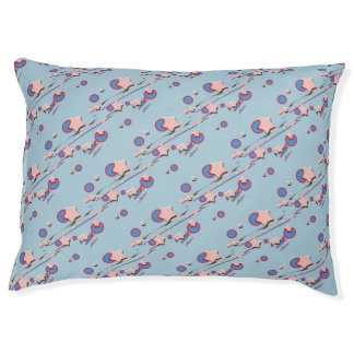Shooting Stars and Comets Light Blue Dog Bed