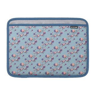 Shooting Stars and Comets Light Blue Pastel Sleeve MacBook Air Sleeves