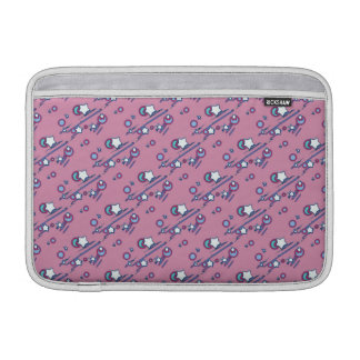Shooting Stars and Comets Pastel Pink Sleeve MacBook Sleeves