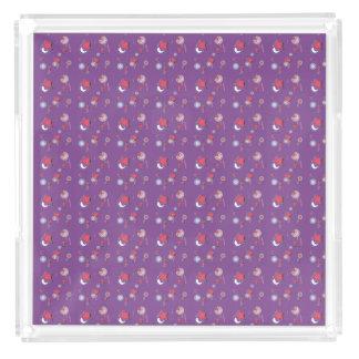 Shooting Stars and Comets Purple Perfume Tray
