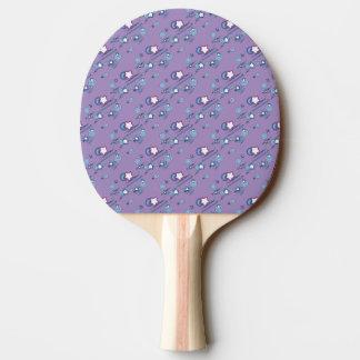 Shooting Stars and Comets Purple Ping Pong Paddle