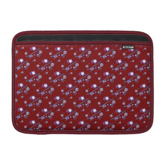 Shooting Stars and Comets Red Sleeve Sleeve For MacBook Air
