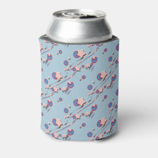 Shooting Stars & Comets Pastel Blue Beer Sleeve Can Cooler