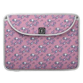 Shooting Stars & Comets Pastel Pink Laptop Sleeve MacBook Pro Sleeve