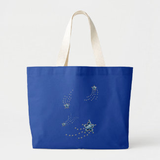shooting stars large tote bag