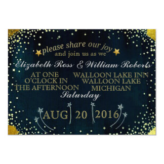 Shooting Stars Wedding Invitation