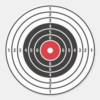 Shooting Target Round Sticker