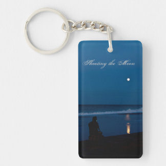 Shooting the Moon Photographer Keyfob Double-Sided Rectangular Acrylic Key Ring