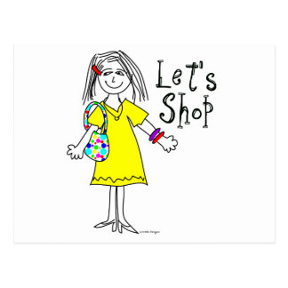 Shop-a-holic Postcard