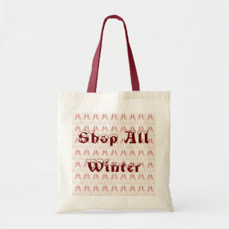 Shop All Winter Tote Bag